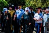 Возложение венков к памятнику Казаку-защитнику Отечества