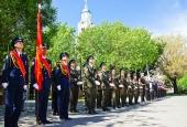 Возложение венков к мемориалам Великой Отечественной войны