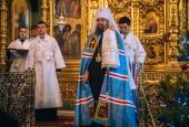 Казаки склонили головы в молитве на Рождественском богослужении