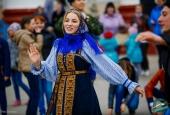 Фольклорный десант: астраханцы провели масленицу в Ахтубинске
