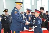Новые воспитанники астраханского казачьего кадетского корпуса получили удостоверение кадета