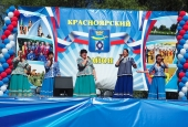 Красноярские казаки приняли активное участие в праздновании Дня района