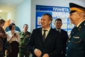 Врио губернатора Астраханской области Сергей Морозов посетил казачий кадетский корпус имени атамана И. А. Бирюкова