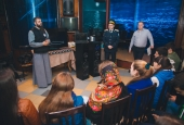 Отряд казаков быстрого реагирования выступил перед участниками слёта православной молодёжи
