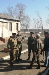 Бузанские и Водяновские казаки провели военно-патриотическое мероприятие на открытом воздухе