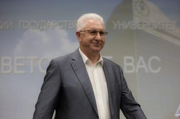 Ректор Константин Маркелов поздравляет АГУ с Днём российской науки